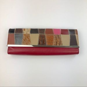 Necessary Objects Leather Patchwork Clutch